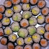 Eigengemaakte de sushipartij van Japan stock fotografie