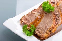 Eigengemaakte dichte omhooggaand van het braadstukvarkensvlees Royalty-vrije Stock Afbeeldingen
