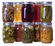 Eigengemaakte domeinen en groenten in het zuur Royalty-vrije Stock Afbeeldingen