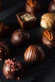 Eigengemaakte Donkere Chocoladetruffels Royalty-vrije Stock Fotografie