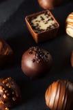 Eigengemaakte Donkere Chocoladetruffels Royalty-vrije Stock Afbeeldingen