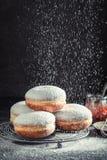 Eigengemaakte en smakelijke donuts bij het koelen van rooster royalty-vrije stock foto's