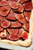 Eigengemaakte fig.pastei Stock Fotografie