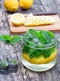 Eigengemaakte fruitdrank met citroen Royalty-vrije Stock Fotografie