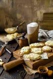 Eigengemaakte gebakken plakken van aardappels royalty-vrije stock fotografie