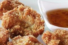 Eigengemaakte geroosterde van de vissenvleesballetjes van het rundvleesvarkensvlees van de garnalenballen de kaasballen in witte  royalty-vrije stock foto
