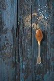 Eigengemaakte gezouten karamelsaus royalty-vrije stock foto