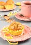Eigengemaakte gluten vrije muffins van boekweitbloem royalty-vrije stock foto