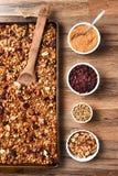 Eigengemaakte Granola royalty-vrije stock fotografie