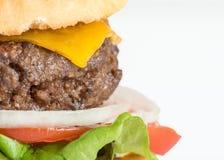 Eigengemaakte Hamburger en Frieten stock foto's