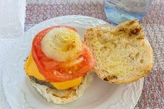 Eigengemaakte hamburgers Stock Afbeeldingen