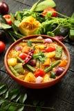 Eigengemaakte heerlijke sambar van de keuken van Kerala stock foto