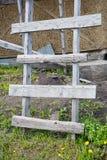 Eigengemaakte houten ladder stock afbeelding