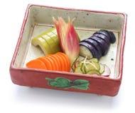 Eigengemaakte Japanse groenten in het zuur, tsukemono Royalty-vrije Stock Foto