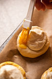 Eigengemaakte kaasbroodjes Royalty-vrije Stock Afbeeldingen