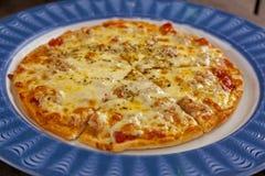 eigengemaakte kaaspizza Royalty-vrije Stock Fotografie