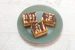 Eigengemaakte Karamelcake Royalty-vrije Stock Foto's