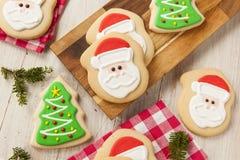 Eigengemaakte Kerstmis Sugar Cookies Stock Afbeelding