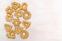 Eigengemaakte Kerstmiskoekjes Royalty-vrije Stock Foto's