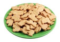 Eigengemaakte Kerstmiskoekjes in de vorm van dierlijke geïsoleerde cijfers royalty-vrije stock foto