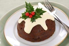 Eigengemaakte Kerstmispudding royalty-vrije stock foto's