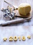 2016 eigengemaakte koekjes Royalty-vrije Stock Afbeelding