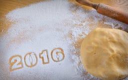 2016 eigengemaakte koekjes Royalty-vrije Stock Foto's