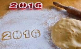 2016 eigengemaakte koekjes Stock Afbeelding