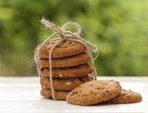 Eigengemaakte koekjes bij de tuin Stock Afbeelding