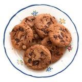 Eigengemaakte koekjes op een plaat Royalty-vrije Stock Foto's