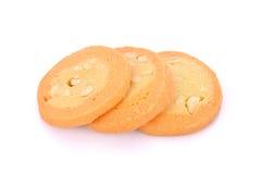 Eigengemaakte koekjes op witte achtergrond Stock Foto