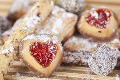 Eigengemaakte koekjes, snoepjes Stock Fotografie