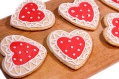 Eigengemaakte koekjes voor het houden van Stock Foto's