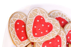 Eigengemaakte koekjes voor het houden van Royalty-vrije Stock Fotografie