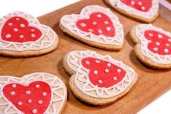 Eigengemaakte koekjes voor het houden van Stock Afbeelding