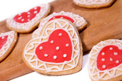 Eigengemaakte koekjes voor het houden van Stock Fotografie