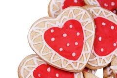Eigengemaakte koekjes voor het houden van Stock Foto