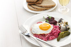 Eigengemaakte labskaus, de Noordelijke keuken van Duitsland royalty-vrije stock foto