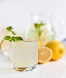 Eigengemaakte limonade met munt Stock Foto