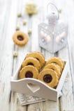 Eigengemaakte Linzer-koekjes Royalty-vrije Stock Foto's