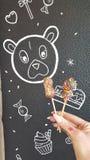 Eigengemaakte lollypops royalty-vrije stock foto's