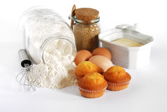 Eigengemaakte Muffins Royalty-vrije Stock Foto's