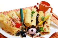 Eigengemaakte omelet Stock Foto's