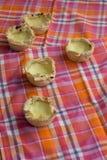 Eigengemaakte Pasteis DE nata, het dessert van Portugal Royalty-vrije Stock Foto