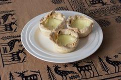 Eigengemaakte Pasteis DE nata, het dessert van Portugal Stock Fotografie