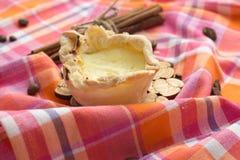 Eigengemaakte Pasteis DE nata, het dessert van Portugal Stock Foto's