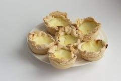 Eigengemaakte Pasteis DE nata, het dessert van Portugal Stock Afbeeldingen