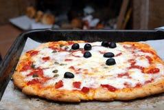 Eigengemaakte pizza Royalty-vrije Stock Fotografie