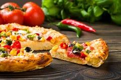 Eigengemaakte pizza Royalty-vrije Stock Afbeelding