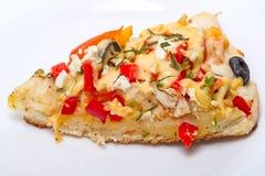 Eigengemaakte plak van Pizza Stock Foto